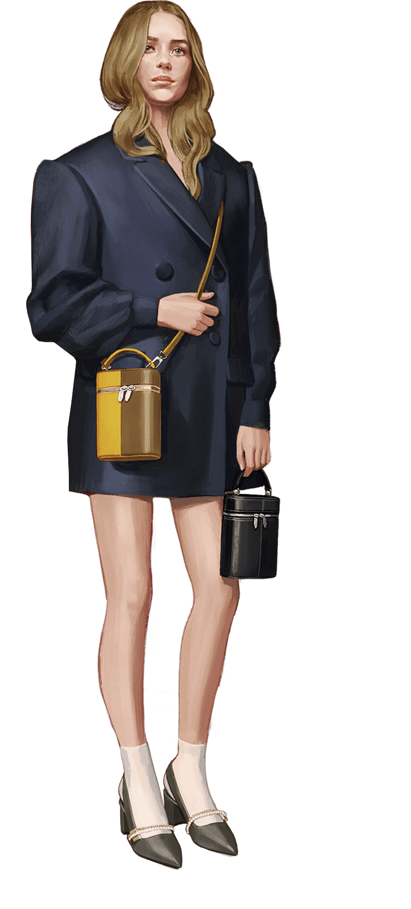 A compilation of illustrations from the CHARLES & KEITH Autumn Winter 2020 campaign - CHARLES & KEITH - Web - Model 2