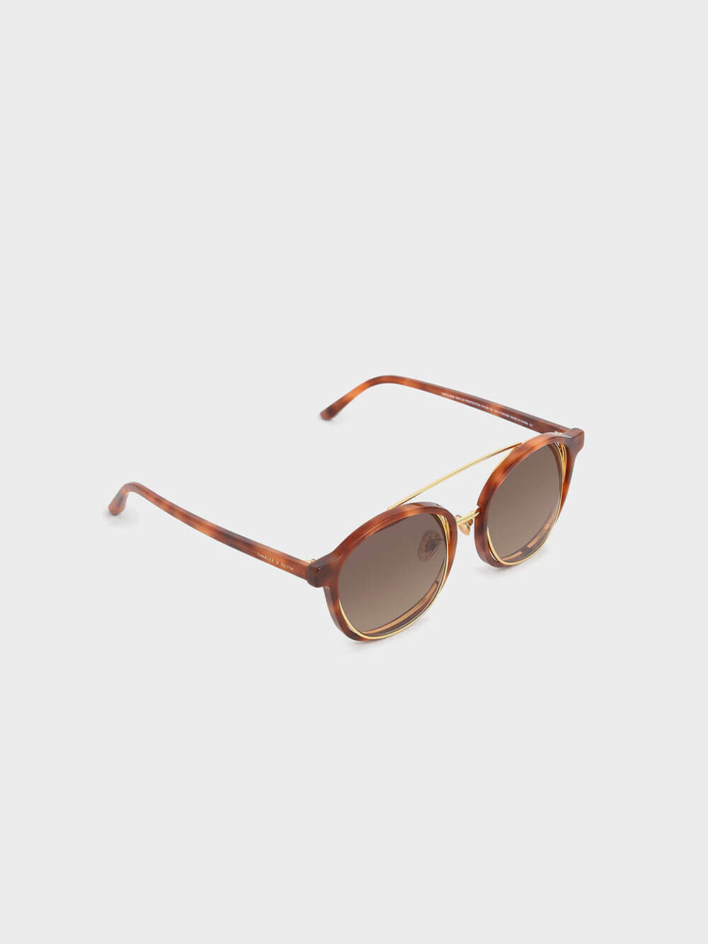 Tortoiseshell Gradient Tint Round Sunglasses