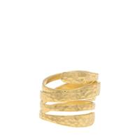 Hammered Wrap-Around Ring