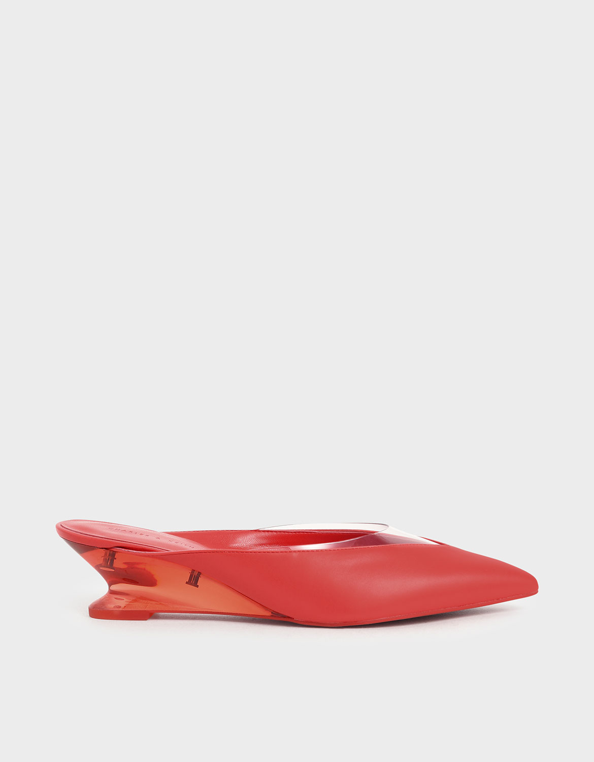Charles & Keith See-Through Effect Pointed Toe Mules