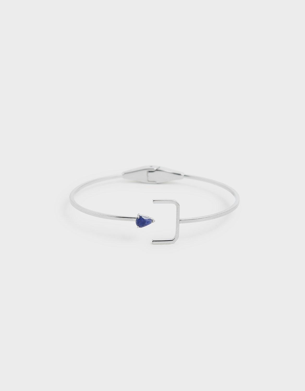 Charles & Keith Sodalite Stone Cuff Bracelet