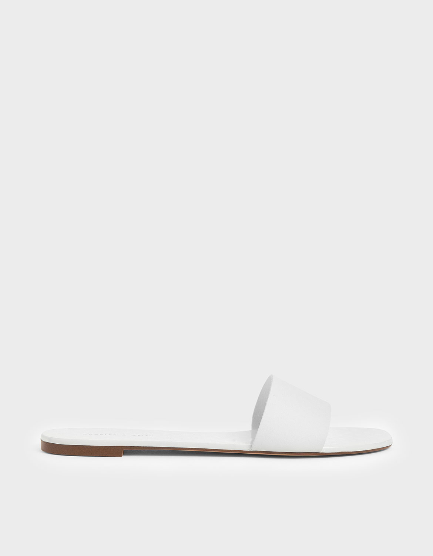 Charles & Keith Dot Motif Slide Sandals