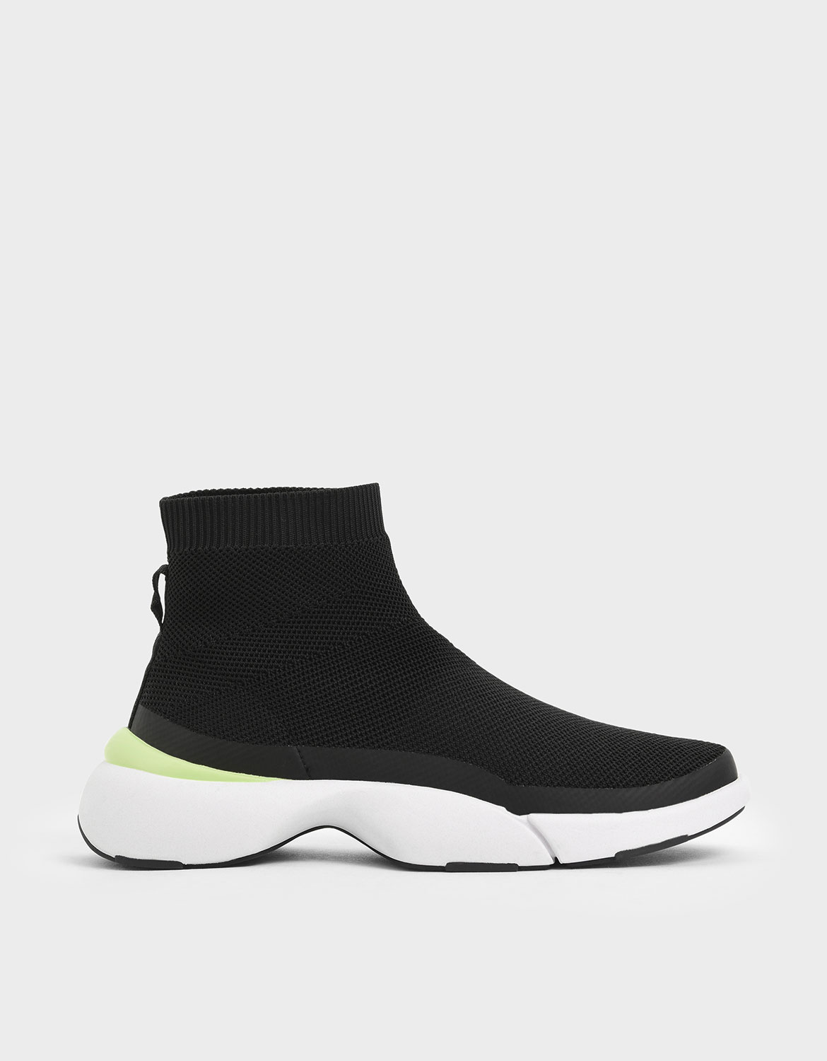 4WARD Collection: Knitted High Top Slip-On Sneakers